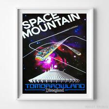 Disneyland Print Space Mountain III Tomorrowland Disney Poster Decor UNFRAMED