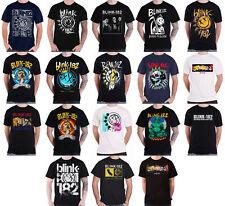 Blink 182 T Shirt California album Smiley Band Logo new Official Homme