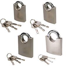 Security Shrouded Shackle Padlock – Keyed Gate Lock – Tool Box Luggage Safe
