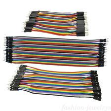 40X Breadboard Dupont Jump Draht M-M/M-F/F-F 10/20/30cm Jumper Kabel Für Arduino