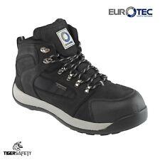 Eurotec S3 706SM Negro Nubuck Puntera De Acero De Alta Resistencia excursionista Estilo Botas De Seguridad
