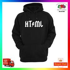 HTML Hoody Hoodie Funny Computer Web Designer Developer Nerd Geek Parody Cool
