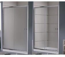 Porta doccia Scorrevole nicchia 100 110 120 130 140 150 160 trasparente o opaco