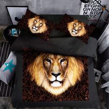 Black Lion Animal Single Queen King Quilt/Duvet/Doona Cover Set Sheet Fitted