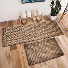 Rustic Handmade Weave Straw Pattern Area Rugs Bedroom Kitchen Floor Mat Doormat