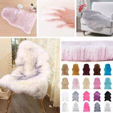 Faux Fur Sheepskin Pattern Rug Faux Fleece Chair Cover Seat Pad Soft Home Decor