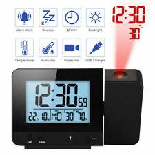 Rotate Alarm clock Projector Clock LED Display Temperature Humudity Backlight