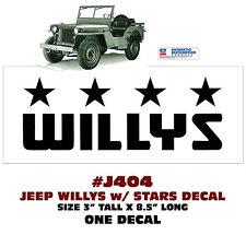 Willys Flex Flatty/_CJ2A/_Jeep Overland/_Sticker//Decal
