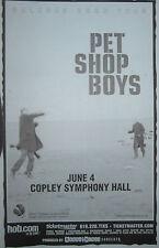 PET SHOP BOYS POSTER Plus HANDBILL 2002 TOUR COPLEY SYMPHONY HALL SAN DIEGO
