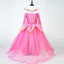 Aurora Vestito Bambina Carnevale Maschera Princess Girl Cosplay Costume AUR004