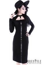 Restyle Scarlet Black Gothic Goth Punk Rocker Emo O-Ring Adult Womens Dress