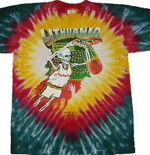 Original 1992 Design GRATEFUL DEAD Lithuania Olympics Basketball Tie Dye T-shirt