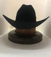RESISTOL 6X Dalton Beaver Fur Hat-BLACK- New W /tags+FREE hat brush+NO TAX SELL!