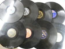 random selection box of 8 x 78 rpm GRAMOPHONE RECORDS ungraded lot , gift idea ?