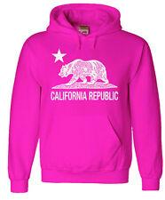 Pink California hoodie sweatshirt men's size california bear shirt cali hoody