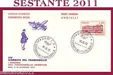 ITALIA FDC CIRCOLO FILATELICO BARESE SOCIETA' ANGIULLI 1972 , ANNULLO BARI,  A66