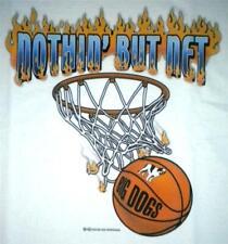 Nothin But Net Basketball Flames Big Dogs Tee Shirt White Men XLarge 2X 3X NEW