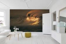 3D Sunset Waves 1 Wall Paper Wall Print Decal Wall AJ WALLPAPER CA