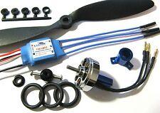 Vendedor Reino Unido 24g 1500kv Maravilla Azul + Motor Brushless Esc + Prop Kit Combo 3d Avión