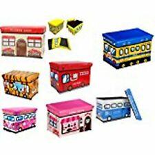 Astro Childrens Folding Storage Toy Box Padded Seat Stool