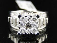 10K Ladies White Gold Round Diamond Xl Engagement Wedding Ring 1.61 Ct
