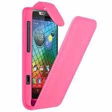 Piel Artificial Funda protectora de móvil con tapa para Motorola RAZR i XT890