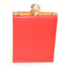 POCHETTE donna  ROSSA ORO  borsello clutch creistallo cerimonia elegante  E120