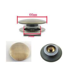 Replacement Brass Basin Sink Waste Pop Up Plug Cap Click Clack Push Button Multi