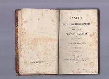 maxime de la rochefoucauld,montesquie,vauvenargues -- 1864 - in francese