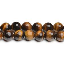 Tigerauge Perlen Kugeln in 2 - 10 mm Edelstein facettiert Top, 1Strang #4116