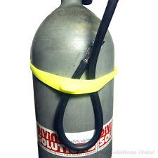 Scuba Diving Silicone Tank Strap AL 40 / AL 80 Black Yellow
