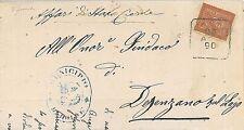 ITALIA REGNO - MANIFESTO CIRCOLARE annullo collettoria DOLCE' - 1890