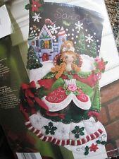 Bucilla Girl Felt Applique Christmas Holiday Stocking Kit,PRINCESS,Castle,86140
