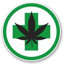 2 x Cannabis Vinyl Sticker Laptop Travel Luggage Car #5721