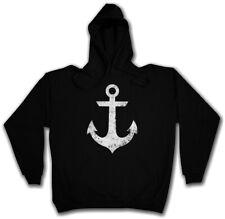 OLDSCHOOL ANCHOR HOODIE KAPUZENPULLOVER Anker Tattoo Stern Sailor Retro Sailing