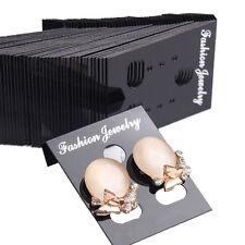 100pcs Professional Type Plastic Earring Ear Studs Holder Display Hang Cards LAU