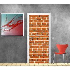 Affiche poster pour porte trompe l'oeil Mur de briques 586 Art déco Stickers