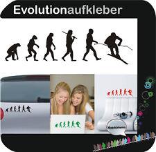 Ski Skifahrer Evolution Wandaufkleber Sticker Folie Wandtattoo Aufkleber W402
