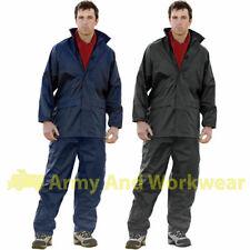 Pvc combinaison pluie veste imperméable/pantalon de pêche, chasse set unisexe hommes femmes
