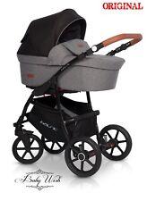 RIKO BASIC PRAM 3in1 CARRYCOT+PUSHCHAIR+CAR SEAT,FREE EXTRAS! UK RETURN
