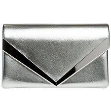 CASPAR TA368 elegante Damen Envelope Clutch Tasche Abendtasche Metallic Glanz