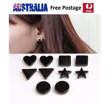 Magnetic Stainless Steel Stud Earrings Non Piercing Clip On Women Men Kids SE65