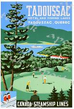 Vintage TADOUSSAC quebec CANADA tourisme affiche d'impression A4/A3/A2/A1