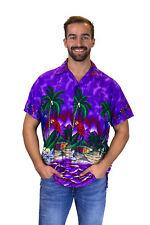 Funky Chemise Hawaïenne Parrot Violet