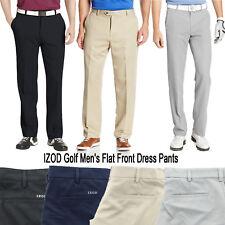 IZOD Men's Golf Performance Flat Front Stretch Dress Pants Slacks Size 30-44 $60