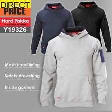 Mens Hard Yakka Brushed Fleece Hoodie Warm Jumper Winter Y19326 Work Wear