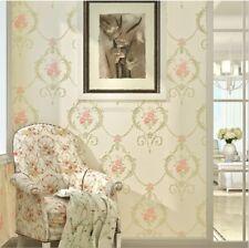 High-quality European Style 3D Embossing Non-woven Flower Design Wallpaper 5.3㎡