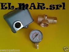 KIT AUTOCLAVE Manometro + Raccordo 5 Vie + Pressostato Meccanico  elettro pompa