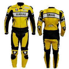 HAUT-QUALITÉ Costume de Motard en Cuir Biker Costume Moto Cuir Veste Pantalon