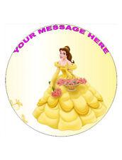"Princess Belle Personalised Cake Topper 8"" Circle Wafer/Icing sheet"